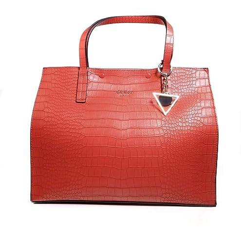 BORSA GUESS KINLEY LARGE SHOPPING BAG CG677824 RED: Amazon