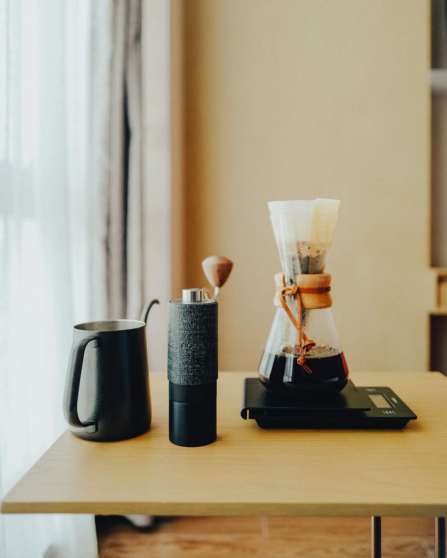 Anleitung Premium Kaffeem/ühle manuell aus Edelstahl kegelmahlwerk Mahlwerk Normcore Manuelle Kaffeem/ühlen Espressom/ühle inkl Stufenlose Mahlgradeinstellung Praktischem Zubeh/ör