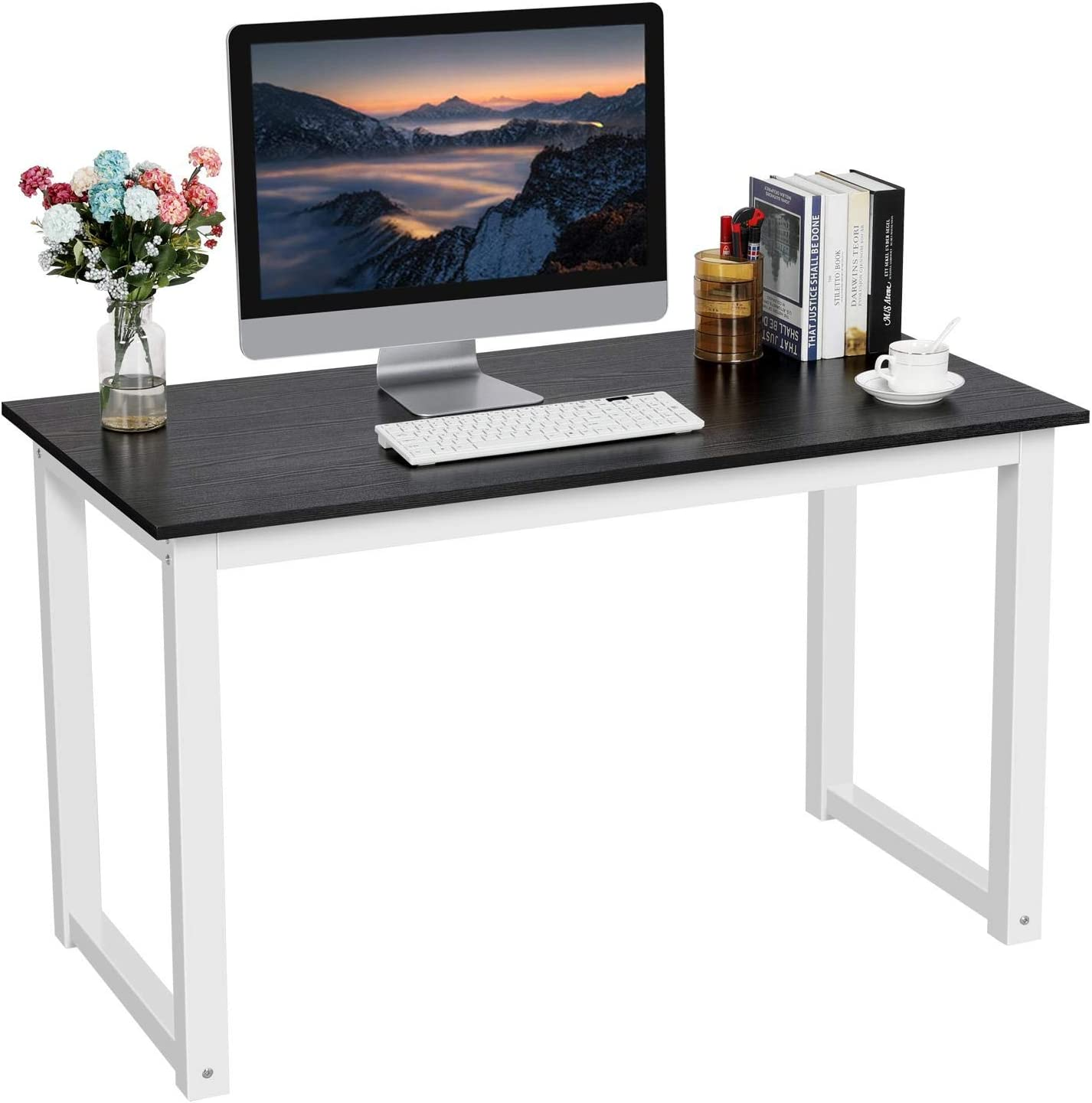 Computer Desk PC Laptop Computer Table Workstation Home Office Metal w//Drawers H