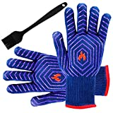 BBQ Grilling Gloves Barbecue Grill Gloves BBQ Oven Mitt Oven Gloves 932°F Heat
