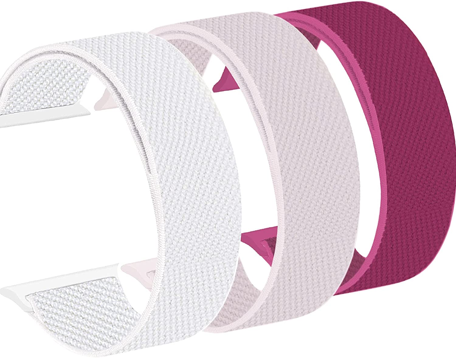 WAAILU Compatible with Apple Watch Bands Series SE/6/5/4/3/2/1, 3 Pack of Sport Watch Band for Women&Men, Breathable Soft Velcro Nylon Compatible with iWatch 38mm 40mm 42mm 44mm