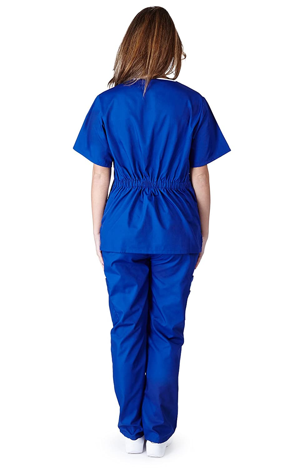 Natural Uniforms Womens Contrast Scallop Image 2