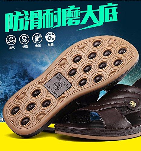 Il nuovo Doppio uso sandali estate Uomini all'aperto sandali traspirante scarpa Spiaggia scarpa Tempo libero sandali ,Marrone,US=6.5,UK=6,EU=39 1/3,CN=39