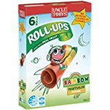 UNCLE TOBYS Roll-Ups Rainbow Fruit Salad Flavour Fruit Snack 6 Pack, 94g