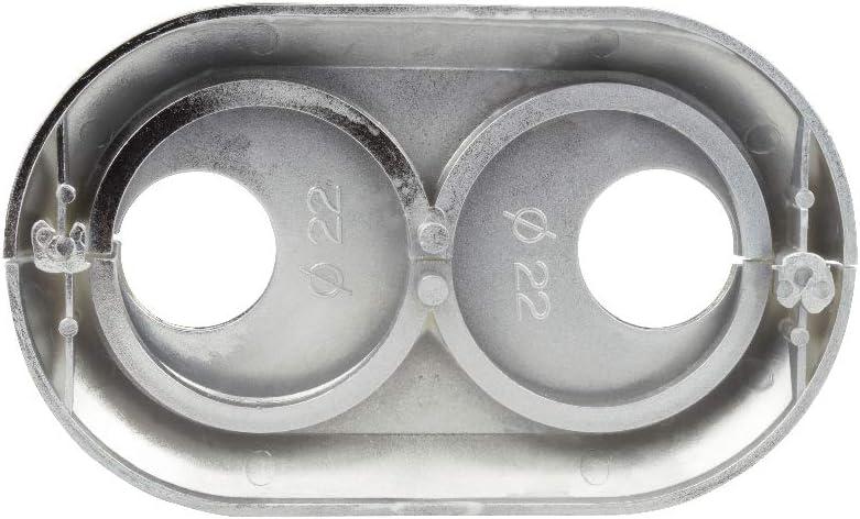 22 mm//wei/ß Abdeckrosette Klapprosette Doppel 15 16 18 20 22 25 28 mm Heizk/örper Wei/ß chrom