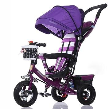 Triciclos Triciclo de niños Carrito de Bebé Plegable Bicicleta 1-3-5 Años de