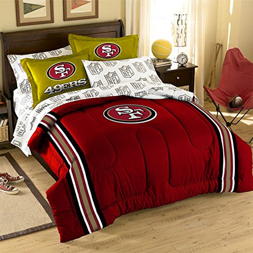 NCAA/MLB/NBA/NFL Twin/Full Size Applique 3 pc Comforter Set-Many different Teams! (San Francisco 49'ers, (Nba Applique)