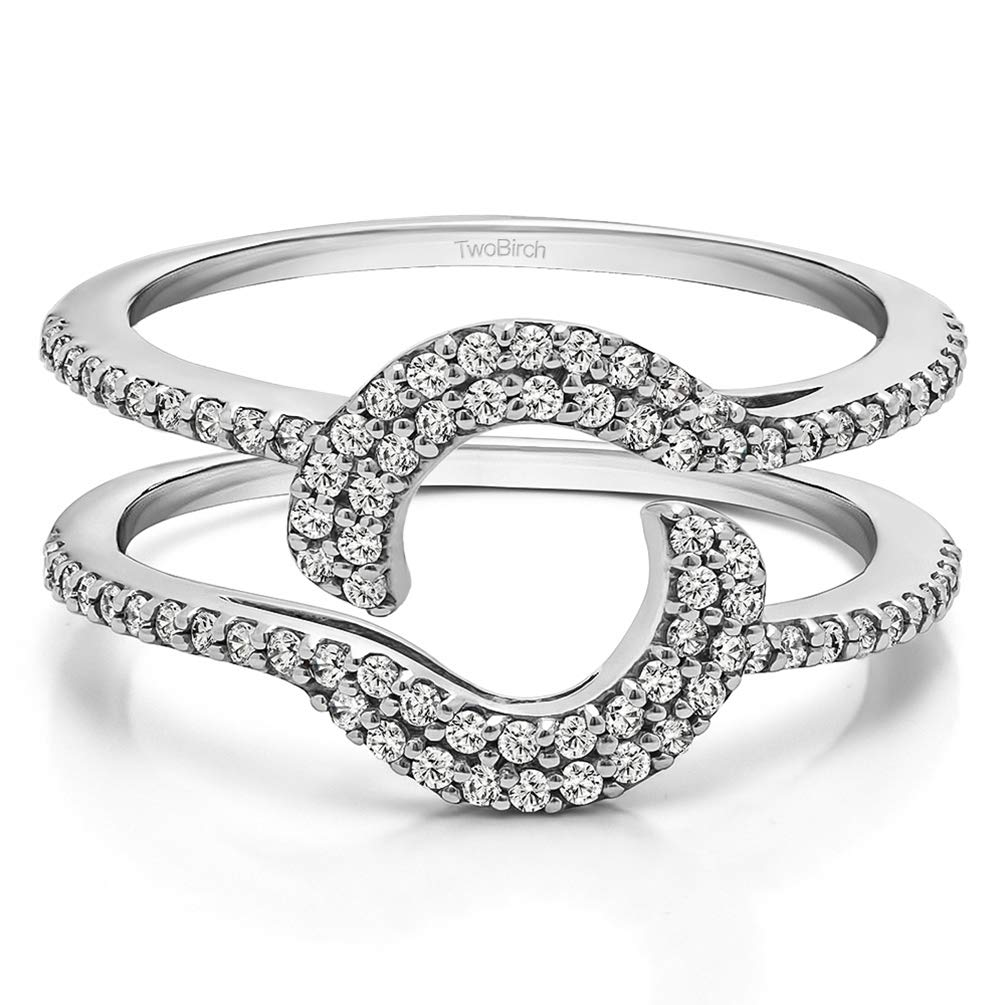 TwoBirch 0.44 Ct. Total Halo Wrap Enhancer (in 10k White Gold size 6.5) with Diamonds (G,I2) by TwoBirch