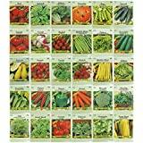 30 Packs Variety Deluxe Vegetable Seeds Create a Deluxe Garden! All Seeds are Heirloom, 100% Non-GMO! by Black Duck Brand 30 Different Varieties