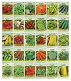 30 Packs Variety Deluxe Vegetable Seeds Create a Deluxe...