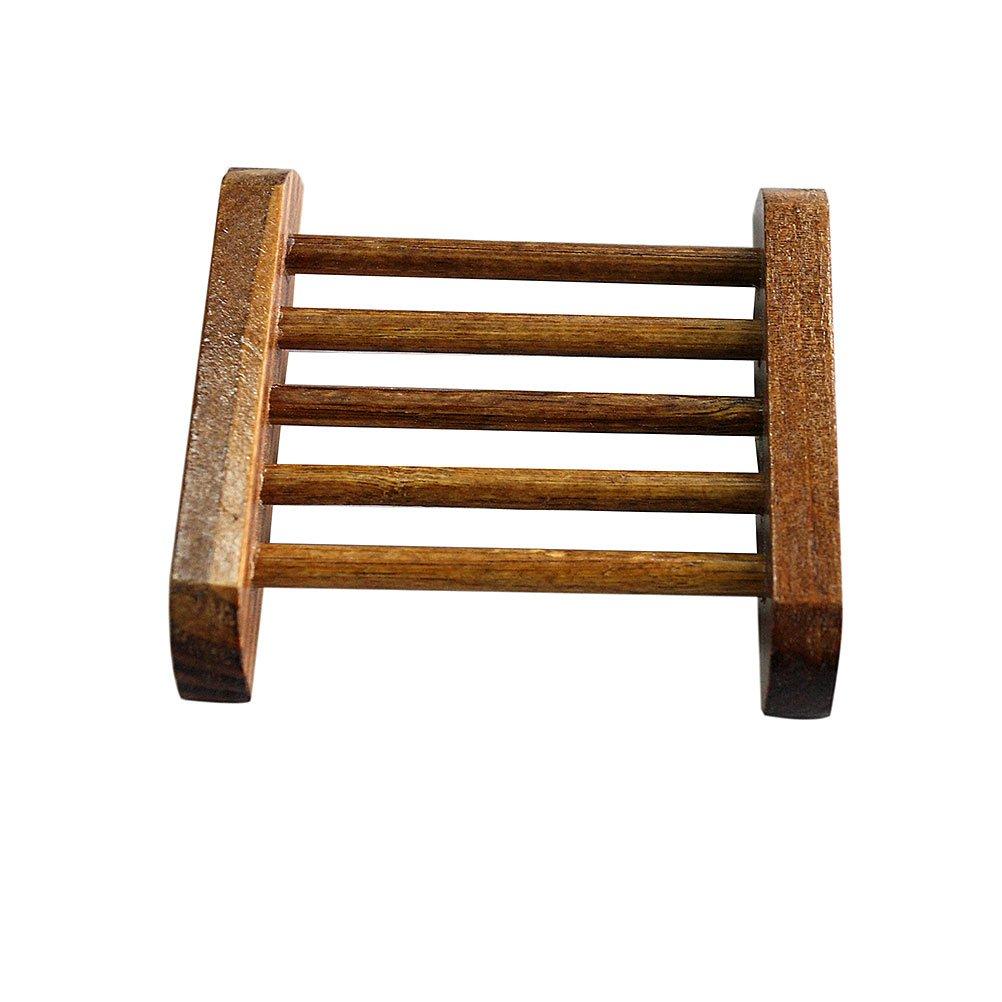4U-Lucky TM Hot sale Natural Carbide Wood Soap Dish Storage Holder