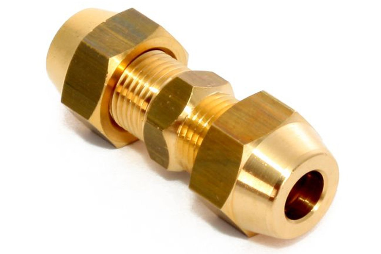 Klimaanlage Split Verbindungsnippel Set 5/8 Zoll inkl Muttern Messing