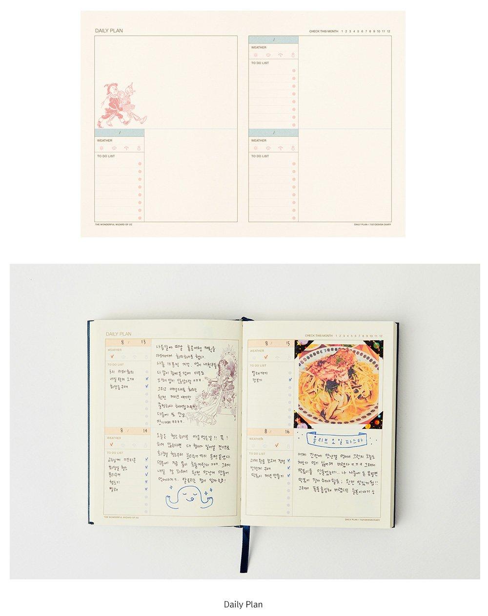 7321 Design OZ2382 - Agenda perenne, color rosa: Amazon.es ...