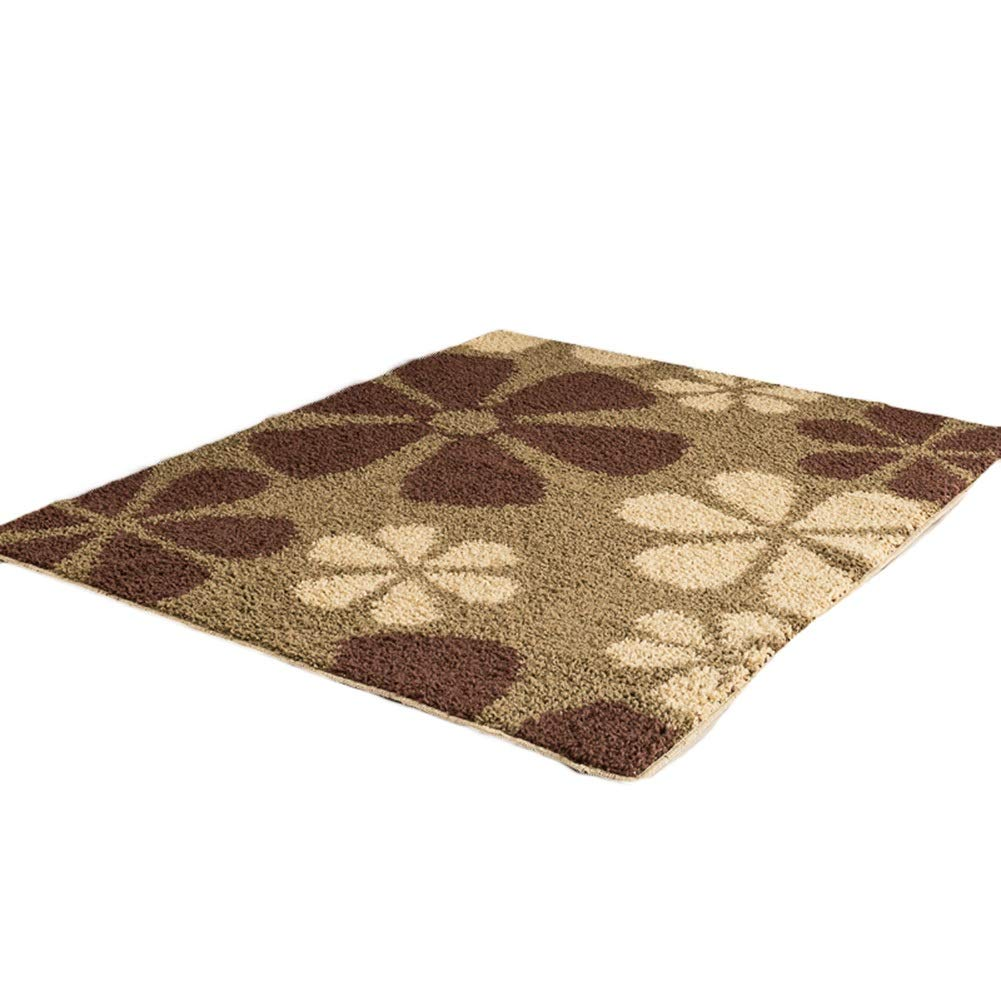 E 100x120cm JIAJUAN Front Doormat Thick Absorbent Large Floor Mat Rubber Doormat Entrance Rug Indoor Outdoor, 6 Styles, 10 Sizes (color   A, Size   100x140cm)
