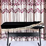 Anself 61-key Electronic Piano Keyboard Cover Pleuche Decorated with Fringes