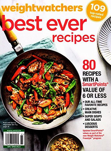 Weight Watchers BEST EVER RECIPES Magazine (FREE SHIPPPING ) ~ SmartPoints Value of 6 or Less