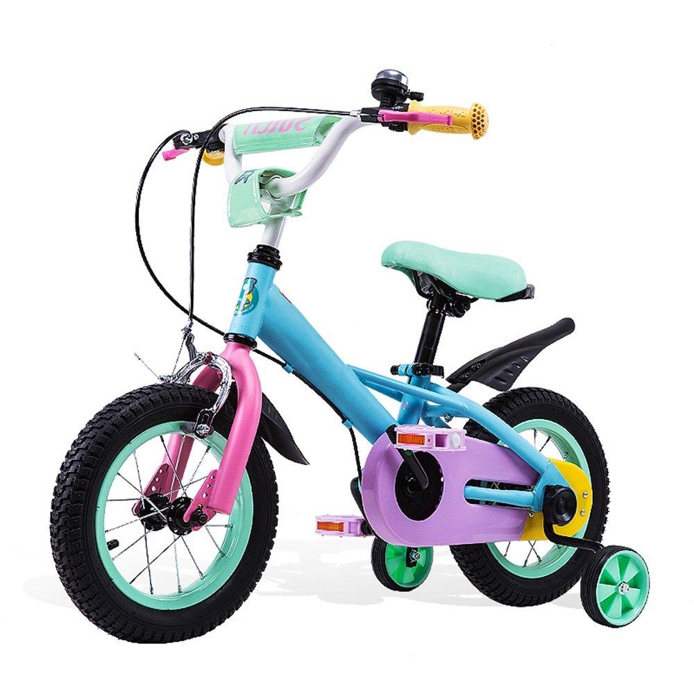 YANGFEI 子ども用自転車 子供の自転車6-7-8-9-10歳女の子の自転車ベビー用自転車12/14/16インチカラフルなベビーカー人間工学に基づいたデザイン安全に乗る 212歳 B07DWRYYMG 14 inch