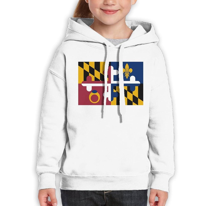 dc18c39a69 Xieshengwu Maryland Flag Fashion Personality Unisex Youth Long Sleeve  Pullover Hood Sweatshirt