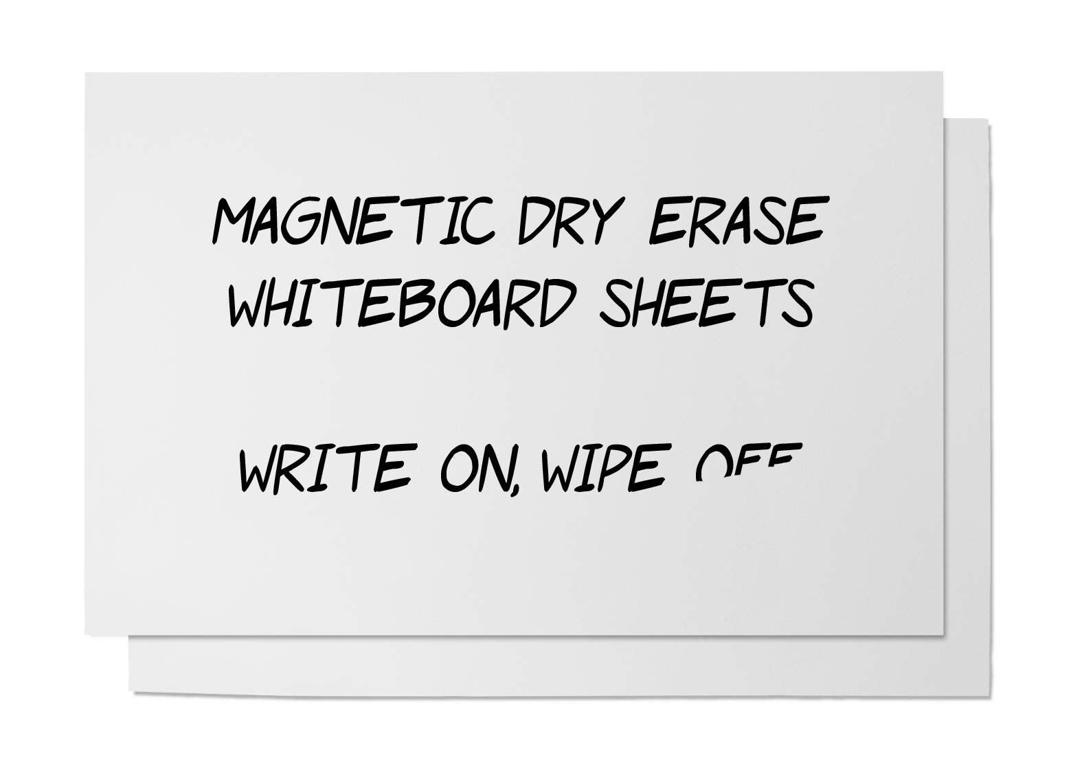 Magnetic Dry Erase Sheet - 2-Pack Magnet Whiteboard Sheet for Kitchen Refrigerator, Dry Erase Board with Magnetized Back, White, Large, 17 x 11 inches