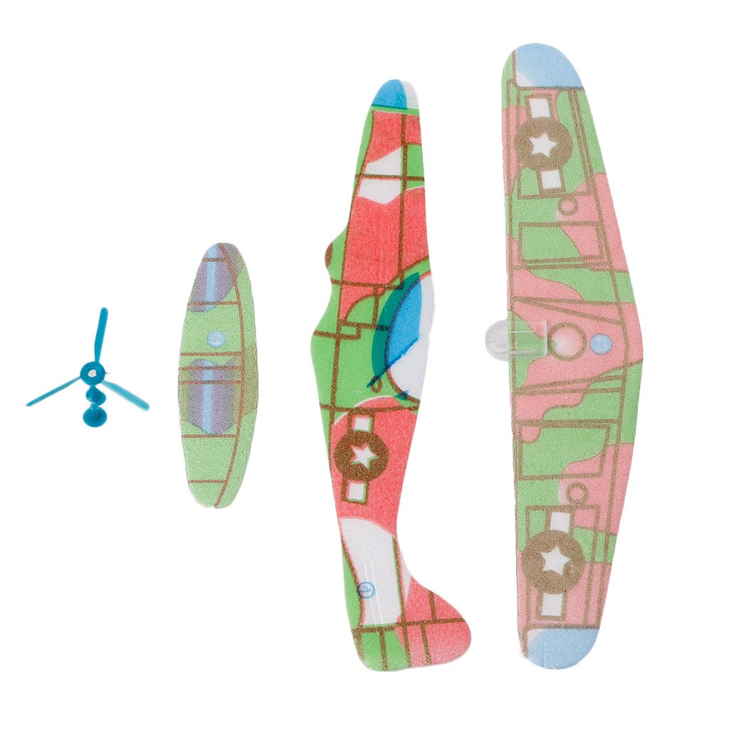 ForHe フォームペーパー飛行機 7.28×7.48インチ ノベルティグライダープレーン 誕生日 クリスマス 感謝祭 ハロウィン パーティーのお土産 子供向けおもちゃ - 色はランダム   B07GRS7PJ8