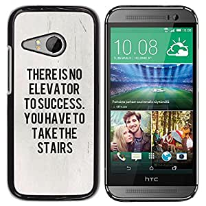 Plastic Shell Protective Case Cover || HTC ONE MINI 2 / M8 MINI || Message Text Poster @XPTECH
