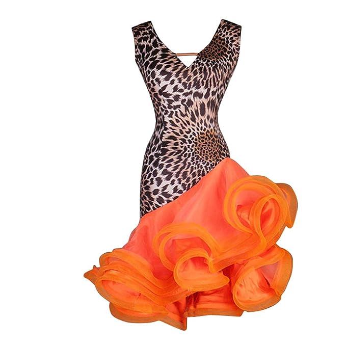 Amazon.com: NAKOKOU - Vestido para mujer, diseño de leopardo ...