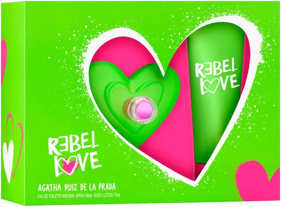 banner Kit feminino Rebel Love Agatha Ruiz de La Prada EDT 80 ml + Body Lotion 75 ml
