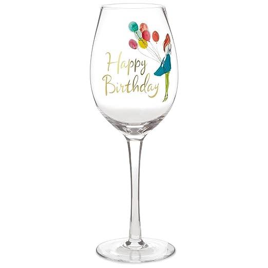 Feliz cumpleaños copa de vino, 15,8 oz. Copas de vino ...