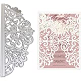 Letongous Lace Flower Metal Cutting Dies Stencil DIY Scrapbooking Album Stamp Paper Card Embossing Crafts Decor
