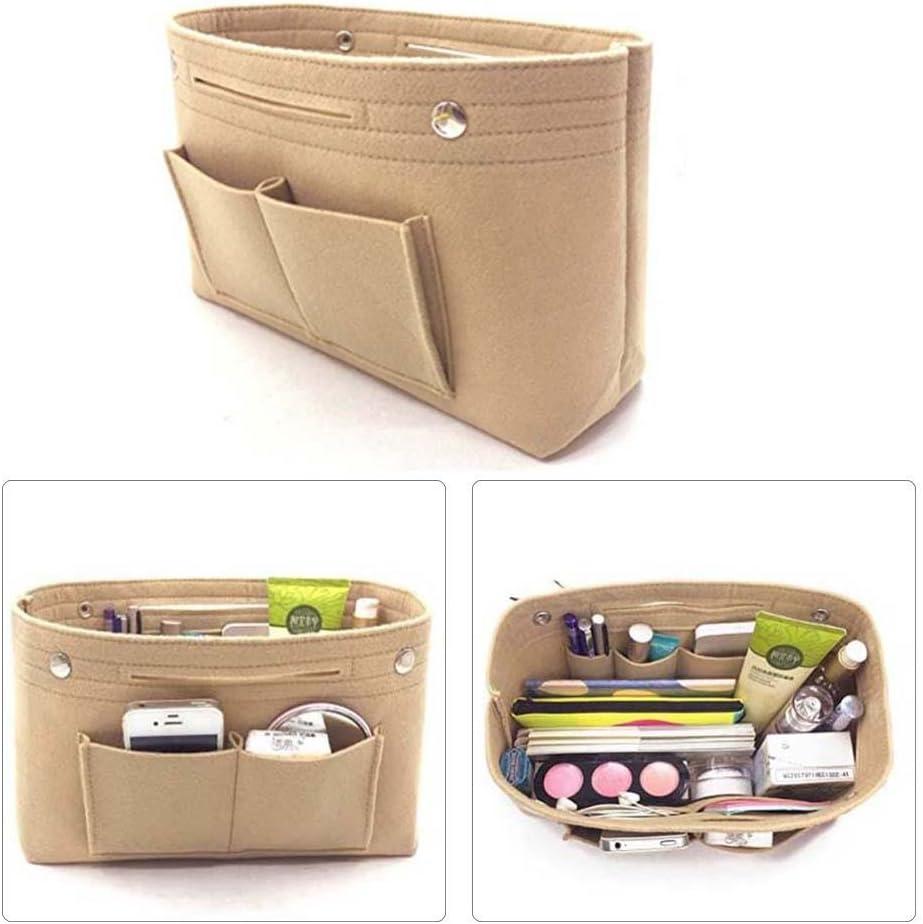 Aolvo Insert Organiseur de sac /à main Cosm/étique Sac de rangement Sac /à main PocketBook Maquillage Sac /à nourriture pour femme Filles Feutre Sac /à main Organiseur