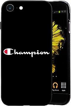 Champion USA Logo Coque iPhone 7/8 Plus - Housse de Protection en Silicone Rigide Anti-Chocs avec Technologie de Coussins d'air Étuis iPhone 7/8 Plus ...