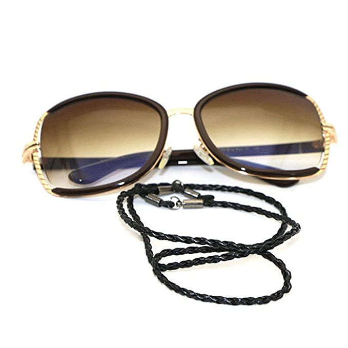 Noir ZYCX123 lunettes universel cha/îne corde Lunettes Retenue lunettes Cha/înes Porte-lunettes Porte-Cord Perles Lunettes de lecture Lunettes de soleil cou cordon attache de la dragonne Laynard