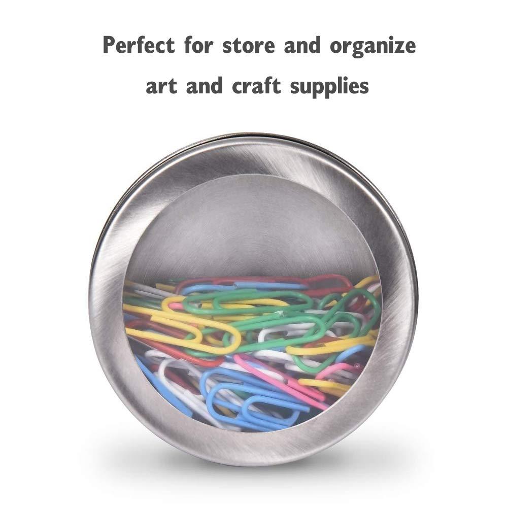 utensilios de cocina magn/éticas Hovome botes de cocina utensilios de cocina para frigor/ífico Juego de 12 latas magn/éticas para especias especias de acero inoxidable