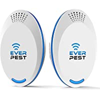 Ultrasonic Pest Repellent Control 2018 (2-Pack), Plug in Home, Flea, Rats, Roaches, Cockroaches, Fruit Fly, Rodent, Insect, ndoor and Outdoor Repeller, Get Rid of Mosquito Ant