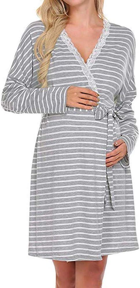 DAaomi Ropa Enteros Vestido de Maternidad de Las Mujeres camisón ...