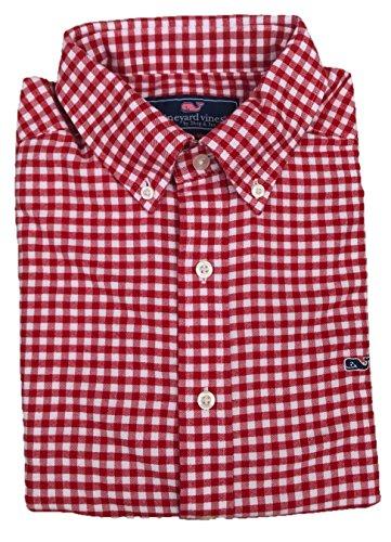 Vineyard Vines Men's Slim Fit Whale Button Down Shirt (Vermilion Fireside Gingham, Large) from Vineyard Vines