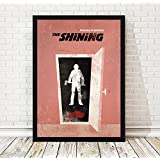 Stanley Kubrick The Shining Minimalist Movie Artwork, Horror Film Artwork, Vintage Poster, 13 x 19 Inches Unframed Print
