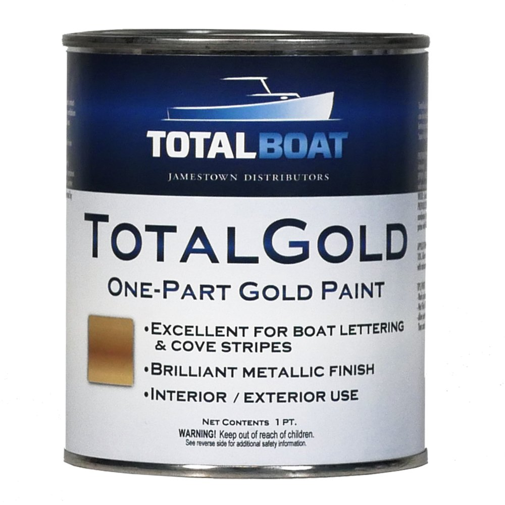 TotalBoat TotalGold Gold Metallic Paint (Pint) by TotalBoat