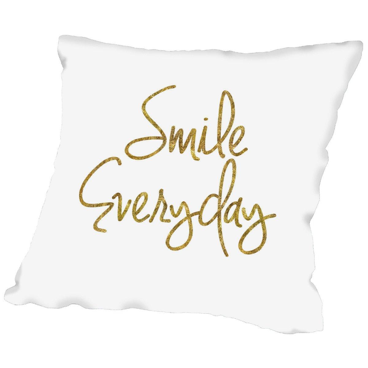 American Flat Smile Everyday Pillow by Brett Wilson, 18'' x 18''