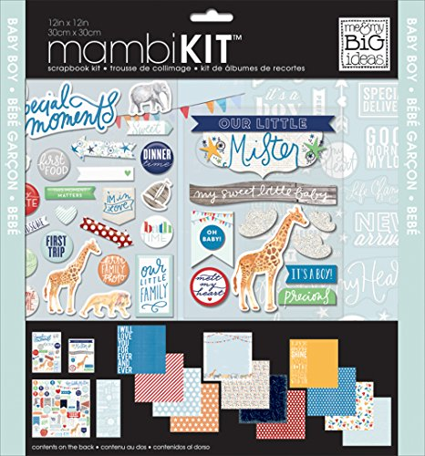 Kit Chipboard - me & my BIG ideas Cool Baby Boy Page Kits, 12-Inch by 12-Inch
