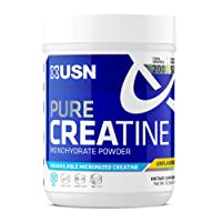 USN Pure Creatine Monohydrate Supplement Powder, 1000 Gram (Pack of 1) - 200 Serving, Unflavored (F1CRE0003001)