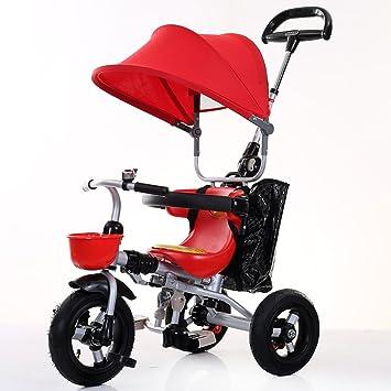 Triciclos niños Bicicleta 1-4 años de Edad Carro de Carro de bebé Bicicleta Infantil Trike Niños 3 Ruedas (Color : Rojo) : Amazon.es: Juguetes y juegos