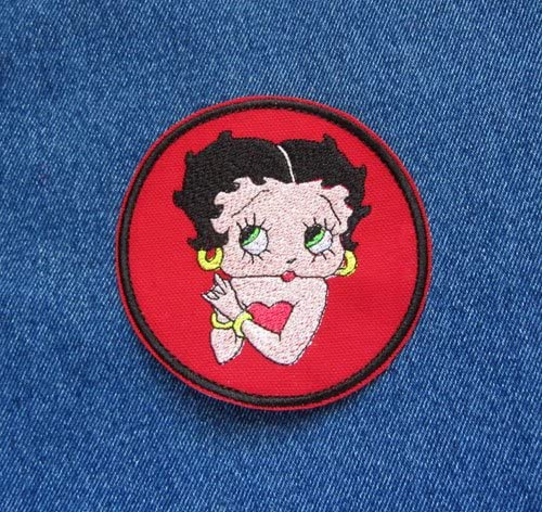 BETTY BOOP Iron On Sew On Embroidered Patch 2 Designs