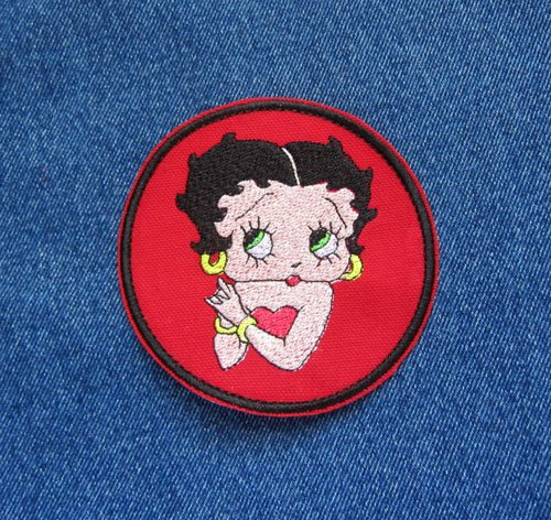 Betty Boop Iron on Sew on Novelty Patch Wanna Be Loved Boop-OOP-a-Doop