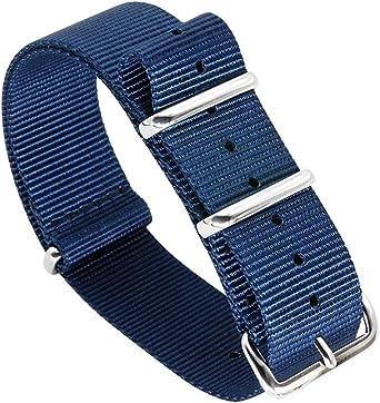 AUTULET 18mm 20mm 22mm 24mm Noir Vert Bleu Rouge Orange Beige Bracelet De Montre en Nylon Militaire Bracelets Bandes Remplacements pour Hommes