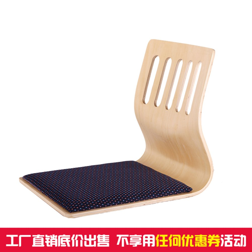 QIQ Japan Wooden Chair,Tatami Bed Chair Room Chair Bay Window seat-A by QIQ