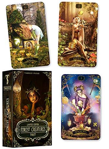 Forest Creatures Tarot Deck + guidebook. Original Tarot 78 cards]()
