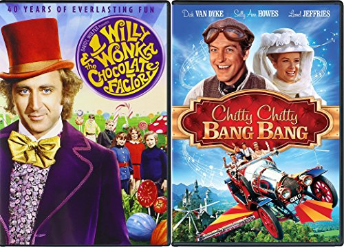 Chitty Chitty Bang Bang & Willy Wonka & the Chocolate Factory Musical DVD Set / Classic Family Movie Bundle Double Feature