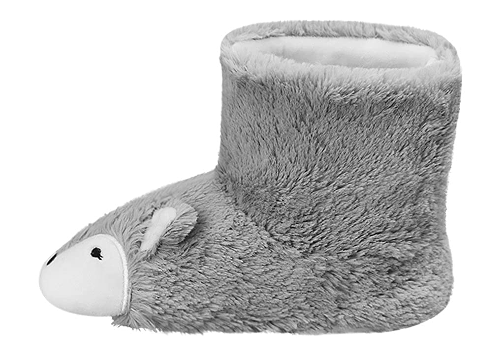 Fox Inspired Thicken Fluffy Sock Slippers Ankle Bootie Anti-Skid Winter Thermal Warm House Slippers Boot Footwear Shoes For Birthday Christmas Gift