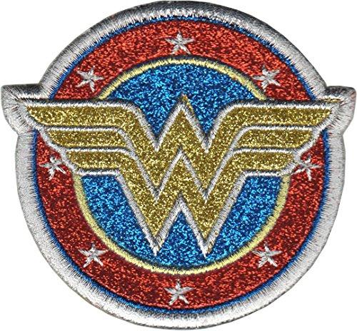 Application DC Comics Originals Wonder Woman Shield with Silver Glitter - Wonder Woman Patches